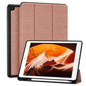 Mastten Case Compatible with iPad 8th Generation Case 2020, iPad 10.2 inch Case with Pencil Holder, Leather Stand Cover for iPad 7th Generation Case, iPad Case 8th Gen, Auto Sleep/Wake, Pink