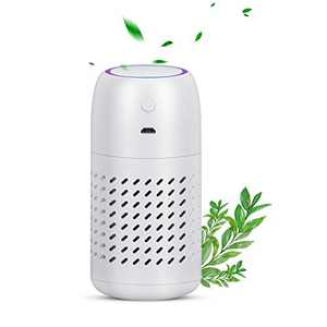 Plump Tiger Car Air Purifier with Filter, Portable Travel Size USB Charger Air Cleaner for Car, Office, Bedroom, Baby Room, Effectively to Remove Dust, Smoke Smell, Pet and Food Odors (White)