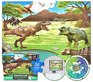 Dinosaur Instructive Jigsaw Parent-Child Puzzle Game Fun Toys Education Learning Puzzles Entertaining Toy Set Birthday Gift for Age 12+ Boys Girls
