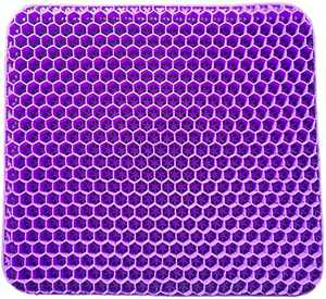 Purple Gel Seat Cushion, Double Thick Ultimate Royal Simply Seat Cushion Long Sitting Pressure Relief Back Pain & Sciatica Pain Relief,Chair Cushion Chair Pads for Office Chair, Car Seat, Wheelchair