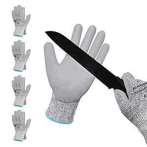 KANGLONGDA Cut Resistant Gloves 4 Pairs, EN388 4X42B Safety Work Gloves for Men and Women/Saw Protective Gloves