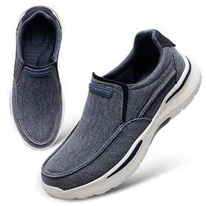 FEETCITY Slip-On Loafer for Men Lightweight Casual Driving Shoes Great Travel Walking Shoes Size 11 Blue