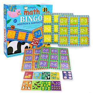 Flash Cards for Toddlers Simple Math Bingo Game for Kids Puzzles Flash Card Puzzle Game Toddler Learning Activities and Mathematical Calculation Training for Kids