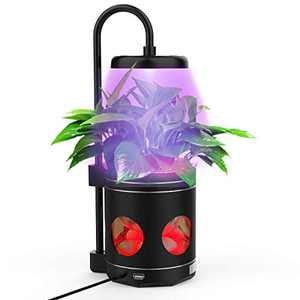 Indoor Plant Lights, Plant Grow Light, 4 in 1 Smart Full Spectrum Led Plant Grow Lights Desk Table Lamp for Indoor Plants, Built-in Reading Mode and RGB Night Light Mode (Black)