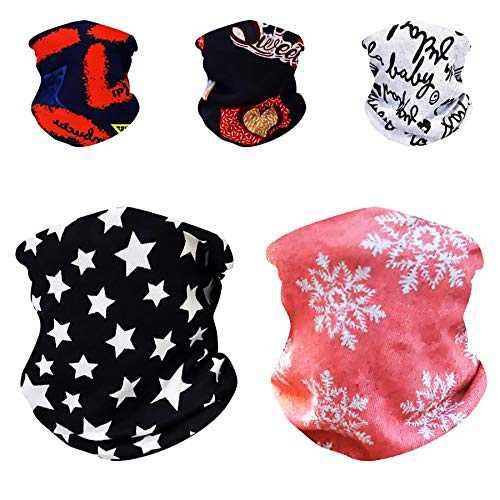 SHUNMEILO 5PCS Winter Masks for Women, Ski Neck Warmers Kids, Masks Scarf for Women (5PCS Cozy Fleece)…