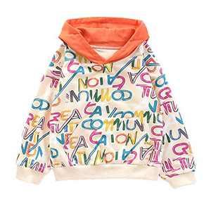 szshohxw Little Girls Hoodies Unisex Long Sleeve Autumm Winter Sports Tops Size 5,6,8,10,12(Beige-5)