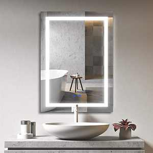 """Bathroom Mirror with LED Lights Dimmable Backlit Wall Mounted Makeup Vanity Horizontal Vertical (20""""×28"""")"""