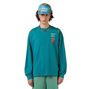 RESPECT MY WAY Men's Long Sleeve T-Shirt with Design Crewneck Lightweight Graphic Tees (Blue,M)
