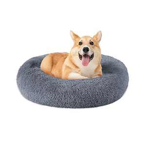 MoMoPal Calming Dog Bed & Cat Bed Washable Dog Bed Donut Cuddler Anti Anxiety Dog Bed Soft Faux Fur Calming Pet Bed Dog Beds & Furniture for Large Medium Small Dogs and Cats