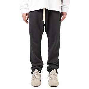 Mens Sweatpants Joggers Stylish with Pockets and Elastic Bottom(Gray,L)