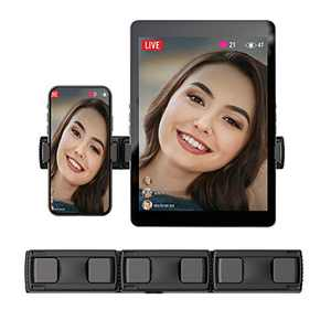 Universal Cell Phone Tablet Holder, Extendable Lightweight Aluminum Cell Phone Stand, Tablet Mount, Compatible with iPhone Android and Pad, for Selfie Light and Live Stream