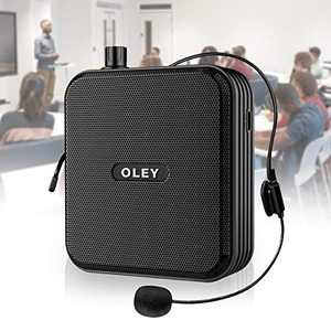 Voice Amplifier Large capacity 45W 4000mAh Microphone Headset Amplifier mini microphone Speaker Clip On for Teachers OutdoorElderly Classroom Meetings