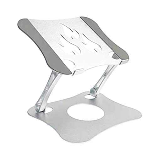 """Laptop Stand, Astarexin Ergonomic Aluminum Laptop Computer Stand,Laptop Riser Notebook Holder Stand Compatible with 10-15.6"""" Laptops(C-Large, Silver)"""