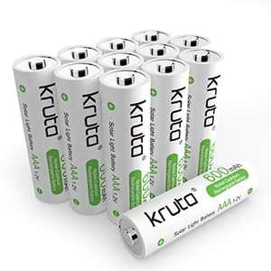 Solar Light Batteries AAA Ni-CD 600mah 1.2V Rechargeable AAA Battery for Solar Lamp Solar Light Pre-Recharged (Pack 12)