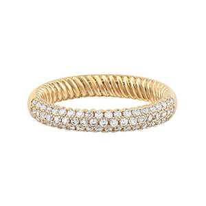 Mytys 18K Gold Plated Ring Cubic Zirconia Stackable Rings Eternity Bands for Women Size 8