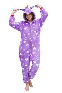 NOUSION Licorne Unisex Adult Onesies Pajamas, Cosplay Christmas Sleepwear Onesies Outfit