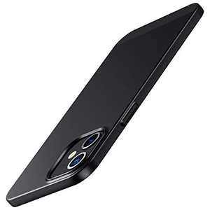 Meifigno Compatible with iPhone 12 Mini Case, [Ultra Thin] [Hybrid Designed] [Color Blocking], Slim Fit Matte Phone Case, Designed for Apple iPhone 12 Mini 5.4 inch (2020), Black