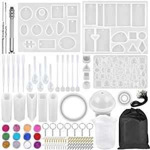 DIY Resin Casting Mold Kit is Used for Making Jewelry Pendants, and Various Shapes of Silicone Molds are Suitable for Making Resin Crafts Jewelry 133PCS