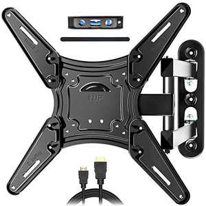 JUSTSTONE TV Wall Mount Full Motion for Most 28-60 Inch TVs, Wall Mount for TV with Swivel Articulating Arms, Perfect Center Design TV Mounts Wall, up to VESA 400x400mm and 80 lbs