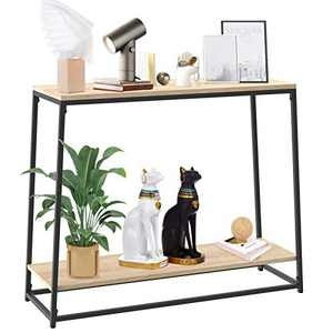 SpringSun Console Sofa Table, Entryway Table with 2-Tier Storage Shelves for Living Room, Bedroom, Balcony and Hallway