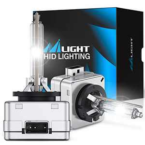 Nilight D3S HID Bulb, Super Bright D3S HID Bulb 6000K Diamond White High Low Beam HID Headlight Bulbs Replacement for 12V Cars, Pack of 2
