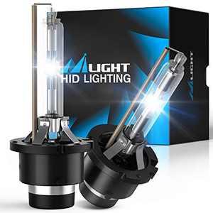 Nilight D2S HID Bulbs, D2S 6000K HID Bulb Diamond White High Low Beam Xenon Headlight HID Bulbs for 12V Cars, Pack of 2