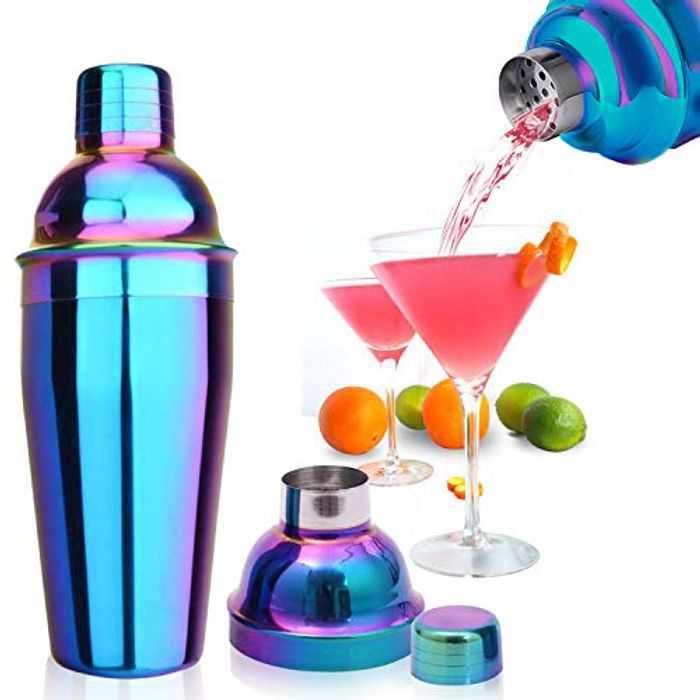 Cocktail Shakers, Cocktail Shaker 750ml Cocktail Making Set, Cocktail Kit with Strainer, Boston Shaker for Martini, Manhatta, Shaker Maker Suitable for Bar,(Multicolour)