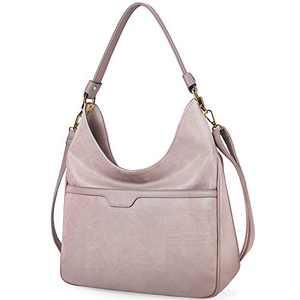 Hobo Handbags For Women Purses Satchel Shoulder Tote bags Waterproof Large Fashion Ladies Handbags Lotus Pink