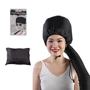 OUCJIED Bonnet Hood Hairdryer Attachment ,Deep Conditioning Hair Treatment With Extra Long stretchable Hose and Adjustable Extra Large Bonnet Hair Dryer,Speeds Up Drying Time at Home(Black)