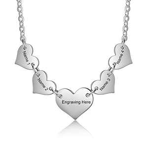 kaululu Personalized Heart Necklace for Women Charms Name Customed Engraved Necklace for Teens Girls Women BFF Necklace