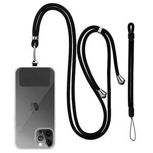 E-Tree Weave Phone Lanyard, Universal Wrist Strap and Adjustable Crossbody Neck Lanyard with Paste Patch for Most of Phone Case Wallet Tether Keychain ID Badge Holder