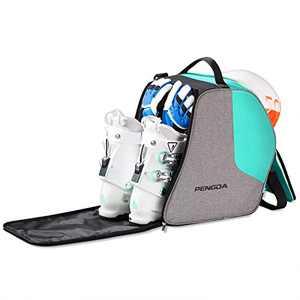 PENGDA Ski Boot Bag Snowboard Boots Bag Excellent for Travel Waterproof Exterior & Bottom Adjustable Shoulder Strap for Ski Helmets, Goggles, Gloves, Ski Apparel & Boots Storage