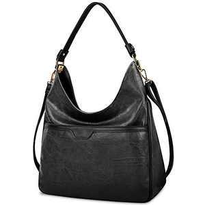 Hobo Handbags For Women Purses Satchel Shoulder Tote bags Waterproof Large Fashion Ladies Handbags Black