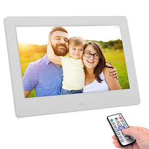 Upgraded 10 Inch Digital Picture Frame, HD 10 Inch Digital Photo Frame with Motion Sensor, Photo Deletion, Automatic Rotation,Calendar, Alarm, Clock, Remote Control,Display Files via USB and SD Card