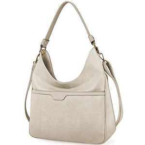 Hobo Handbags For Women Purses Satchel Shoulder Tote bags Waterproof Large Fashion Ladies Handbags Beige