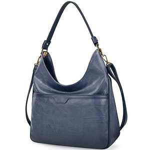 Hobo Handbags For Women Purses Satchel Shoulder Tote bags Waterproof Large Fashion Ladies Handbags DeepBlue