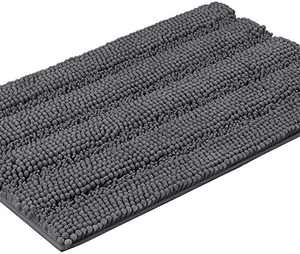 """Bath Rugs Super Thick Soft and Machine Washable, Kitchen Carpet, Bathroom mat, Absorbent Dry Quick Chenille Bath mat (20""""x30"""", Gray)"""