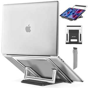 "Adjustable Laptop Stand, Ergonomic Portable Computer Stand Holder, Multi-Angle Notebook Stand, Laptop Riser Compatible with MacBook Air Pro, Dell, HP, Lenovo More 10-15.6"" Laptops"