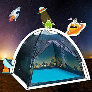 Kids Play Tent Indoor , Ai-Uchoice Toddler Tent for Kids Indoor Games Imaginative Play Tent -The Observatory Universe Space Kid Play Tent for Boys and Girls. (Galaxy Style 2)