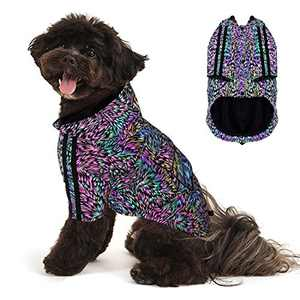 YOUMI Reflective Dog Clothes, Lightweight High Visibility with Adjustable Srtap, Reflective Dog Coat with Leash Hole for Small Medium Large Dogs, Keep Dogs Cool, Suitable for Party