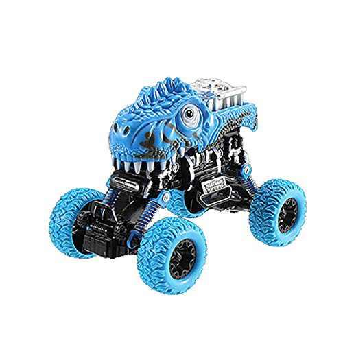 Four-Wheel Drive Bigfoot Dinosaur Pull Back Car Large Off-Road Toy Car Model (Blue)