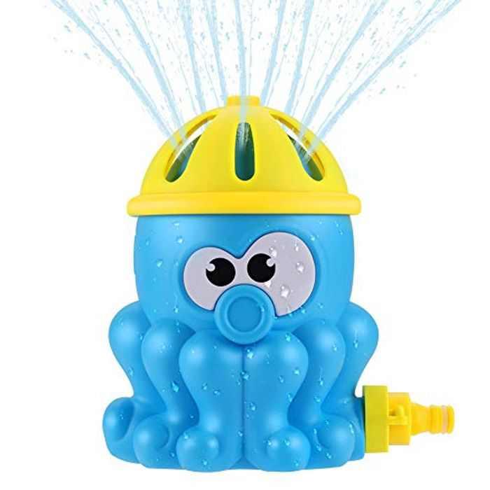 joylink Sprinkler Water Toy, Octopus Sprinkle and Splash Play Toy for Kids Summer Outdoor Play, Sprinkler Toy Sprays Attaches to Standard Garden Hose