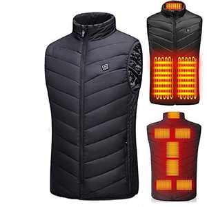 9527 Electric Heated Vest Electric Heated Vest, Temperature Adjustable Black