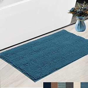 """Bath Rugs Super Thick Soft and Machine Washable, Kitchen Carpet, Bathroom mat, Absorbent Dry Quick Chenille Bath mat (20""""x30"""", Turquoise Blue)"""