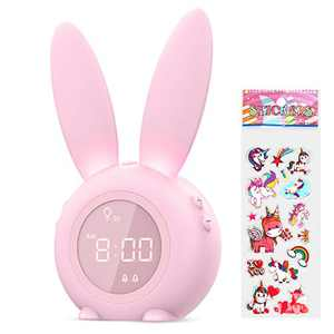 Alarm Clock for Kids, Beenate Bedside Digital Alarm Clock for Bedroom, Children's Sleep Trainer, Wake Up Light & Night Light with USB Charger, Temperature, 6 Ringtones for Baby Toddler Child Kids
