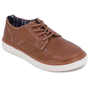 Nautica Kid's Lace-Up Dress Shoe Athletic Casual Sneaker - Youth Jayvon Big Kid Little Kid-Tan-2