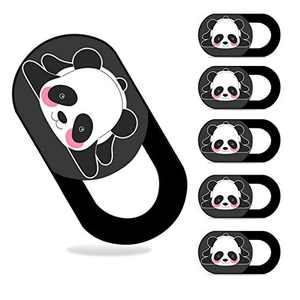 AHPAND Webcam Cover Laptop Web Camera Cover Ultra Thin Slide for Laptop, Desktop, PC, MacBook Pro, iMac, Mac Mini, Computer, Smartphone,Protect Your Privacy and Security (6 Pack Panda)