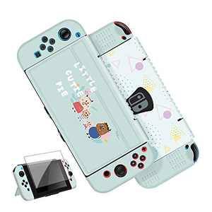 G-STORY Protective Cover for Switch, Slim Cover Case Compatible with Nintendo Switch Console and Joy-Con with Transparent Screen Protector (Green)