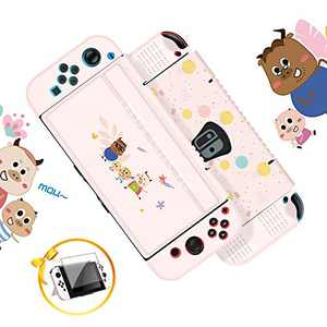 G-STORY Protective Cover for Switch, Slim Cover Case Compatible with Nintendo Switch Console and Joy-Con with Transparent Screen Protector (Pink)