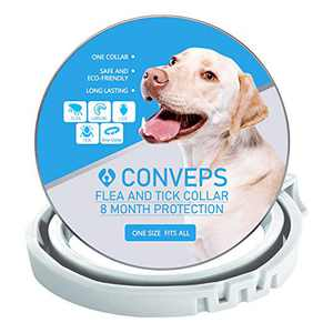Flea and Tick Collar for Dogs, Flea and Tick Prevention for Dogs, All Natural, One Size Fits All 25 inch, 8 Month Protection,Natural Herb Essential,Plant-Based,Waterproof
